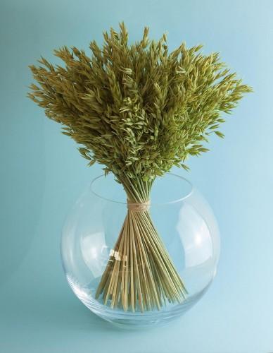 Štýlová guľatá váza s brúsenou hranou s pevnou stenou vhodná na širšie a ťažšie kytice