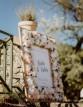 Kvetinový uvítací svadobný rám
